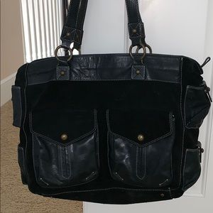 High quality Vintage suede and leather tote.